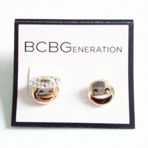 BCBGeneration Happy Face Earrings